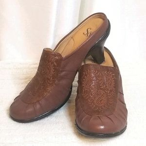 Sofft Leather Clogs (size 7M)